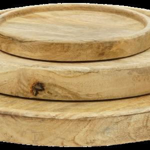 Holzschalen und -Teller